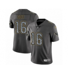 Men's Los Angeles Rams #16 Jared Goff Limited Gray Static Fashion Limited Football Jersey