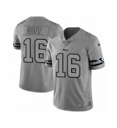 Men's Los Angeles Rams #16 Jared Goff Limited Gray Team Logo Gridiron Football Jersey