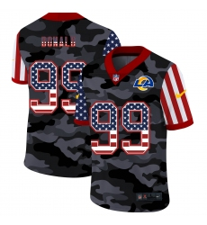 Men's Los Angeles Rams #99 Aaron Donald Camo Flag Nike Limited Jersey
