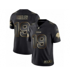 Men Minnesota Vikings #19 Adam Thielen Black Golden Edition 2019 Vapor Untouchable Limited Jersey