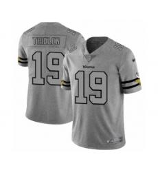 Men's Minnesota Vikings #19 Adam Thielen Limited Gray Team Logo Gridiron Football Jersey