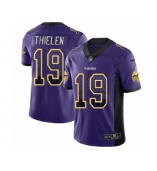 Men's Nike Minnesota Vikings #19 Adam Thielen Limited Purple Rush Drift Fashion NFL Jersey