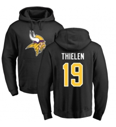 NFL Nike Minnesota Vikings #19 Adam Thielen Black Name & Number Logo Pullover Hoodie