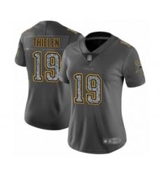 Women's Minnesota Vikings #19 Adam Thielen Limited Gray Static Fashion Football Jersey
