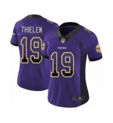 Women's Nike Minnesota Vikings #19 Adam Thielen Limited Purple Rush Drift Fashion NFL Jersey