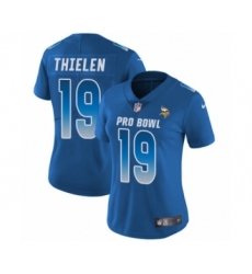 Women's Nike Minnesota Vikings #19 Adam Thielen Limited Royal Blue NFC 2019 Pro Bowl NFL Jersey