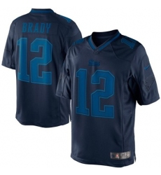Men's Nike New England Patriots #12 Tom Brady Navy Blue Drenched Limited NFL Jersey