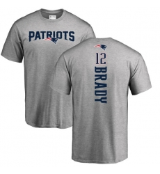 NFL Nike New England Patriots #12 Tom Brady Ash Backer T-Shirt