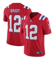 Youth Nike New England Patriots #12 Tom Brady Red Alternate Vapor Untouchable Limited Player NFL Jersey