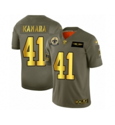 Men's New Orleans Saints #41 Alvin Kamara Limited Olive Gold 2019 Salute to Service Football Jersey