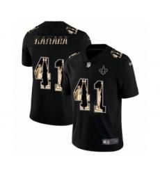 Men's New Orleans Saints #41 Alvin Kamara statue of liberty black jersey