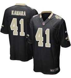 Men's Nike New Orleans Saints #41 Alvin Kamara Game Black Team Color NFL Jersey