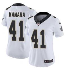 Women's Nike New Orleans Saints #41 Alvin Kamara Elite White NFL Jersey
