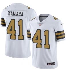 Youth Nike New Orleans Saints #41 Alvin Kamara Limited White Rush Vapor Untouchable NFL Jersey