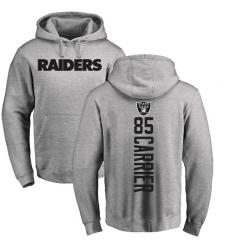 NFL Nike Oakland Raiders #85 Derek Carrier Ash Backer Pullover Hoodie