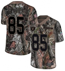 Youth Nike Oakland Raiders #85 Derek Carrier Limited Camo Rush Realtree NFL Jersey