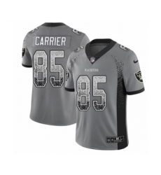 Youth Nike Oakland Raiders #85 Derek Carrier Limited Gray Rush Drift Fashion NFL Jersey
