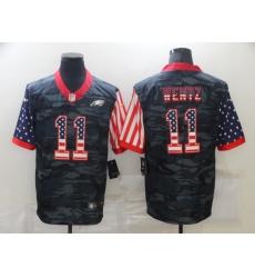 Men's Philadelphia Eagles #11 Carson Wentz Camo Flag Nike Limited Jersey
