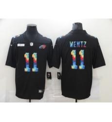 Men's Philadelphia Eagles #11 Carson Wentz Rainbow Version Nike Limited Jersey