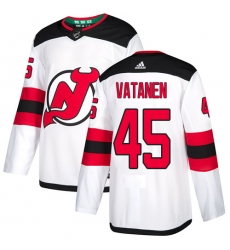Men's Adidas New Jersey Devils #45 Sami Vatanen Authentic White Away NHL Jersey