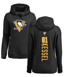 NHL Women's Adidas Pittsburgh Penguins #81 Phil Kessel Black Backer Pullover Hoodie
