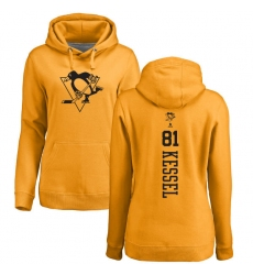 NHL Women's Adidas Pittsburgh Penguins #81 Phil Kessel Gold One Color Backer Pullover Hoodie