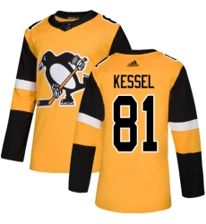 Youth Adidas Pittsburgh Penguins #81 Phil Kessel Authentic Gold Alternate NHL Jersey