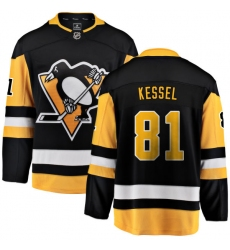 Youth Pittsburgh Penguins #81 Phil Kessel Fanatics Branded Black Home Breakaway NHL Jersey