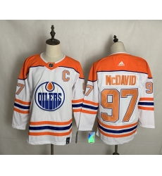 Men's Edmonton Oilers #97 Connor McDavid Authentic White Alternate Fanatics Jersey