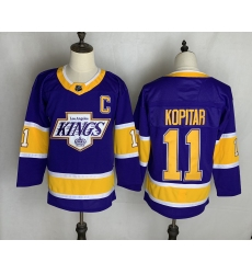 Men's Los Angeles Kings #11 Anze Kopitar Purple 2020-21 Special Edition Replica Player Jersey