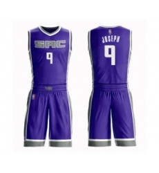 Men's Sacramento Kings #9 Cory Joseph Authentic Purple Basketball Suit Jersey - Icon Edition
