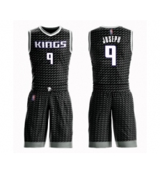 Men's Sacramento Kings #9 Cory Joseph Swingman Black Basketball Suit Jersey Statement Edition