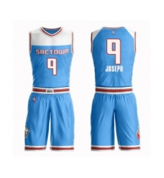 Men's Sacramento Kings #9 Cory Joseph Swingman Blue Basketball Suit Jersey - City Edition