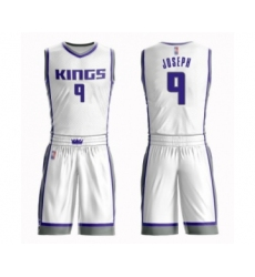Men's Sacramento Kings #9 Cory Joseph Swingman White Basketball Suit Jersey - Association Edition