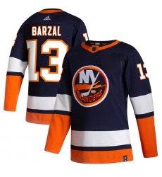 Men's New York Islanders #13 Mathew Barzal adidas Navy 2020-21 Reverse Retro Authentic Player Jersey