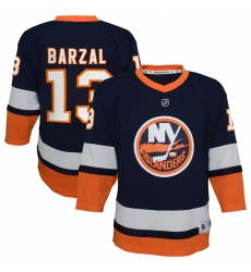 Youth New York Islanders #13 Mathew Barzal Navy 2020-21 Special Edition Replica Player Jersey