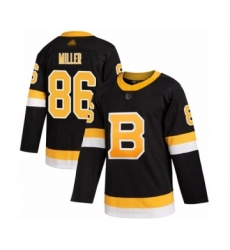 Men's Boston Bruins #86 Kevan Miller Authentic Black Alternate Hockey Jersey