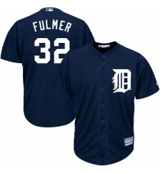Youth Majestic Detroit Tigers #32 Michael Fulmer Authentic Navy Blue Alternate Cool Base MLB Jersey