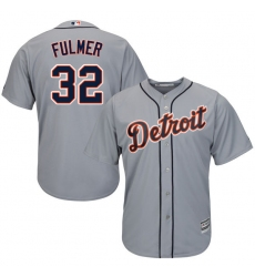 Youth Majestic Detroit Tigers #32 Michael Fulmer Replica Grey Road Cool Base MLB Jersey