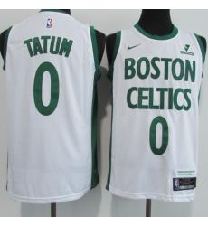 Men's Boston Celtics #0 Jayson Tatum Nike White Swingman Player Jersey