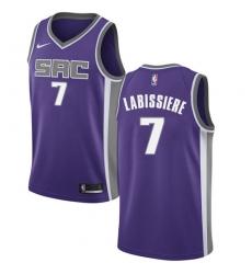 Men's Nike Sacramento Kings #7 Skal Labissiere Authentic Purple Road NBA Jersey - Icon Edition