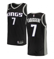 Youth Nike Sacramento Kings #7 Skal Labissiere Authentic Black NBA Jersey Statement Edition