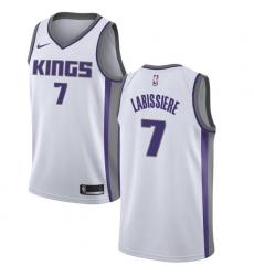 Youth Nike Sacramento Kings #7 Skal Labissiere Swingman White NBA Jersey - Association Edition