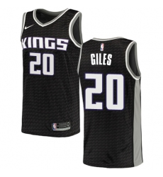 Men's Nike Sacramento Kings #20 Harry Giles Authentic Black NBA Jersey Statement Edition