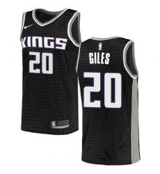 Men's Nike Sacramento Kings #20 Harry Giles Swingman Black NBA Jersey Statement Edition