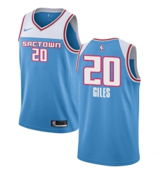 Men's Nike Sacramento Kings #20 Harry Giles Swingman Blue NBA Jersey - 2018 19 City Edition