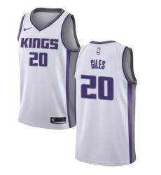 Men's Nike Sacramento Kings #20 Harry Giles Swingman White NBA Jersey - Association Edition