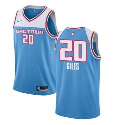 Women's Nike Sacramento Kings #20 Harry Giles Swingman Blue NBA Jersey - 2018  19 City Edition