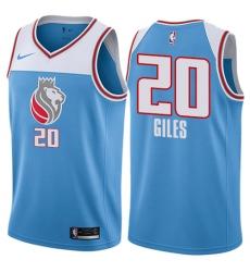 Youth Nike Sacramento Kings #20 Harry Giles Swingman Blue NBA Jersey - City Edition