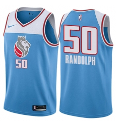 Youth Nike Sacramento Kings #50 Zach Randolph Swingman Blue NBA Jersey - City Edition
